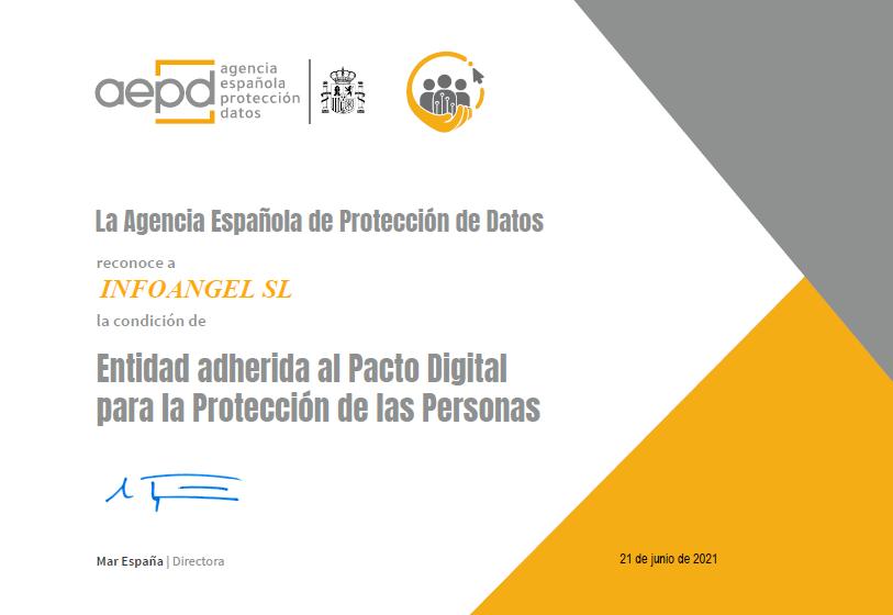 Certificado Pacto digital